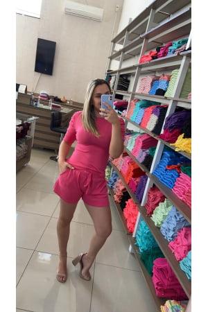 Ref 4220 - Conjunto Shorts e Blusa Modal