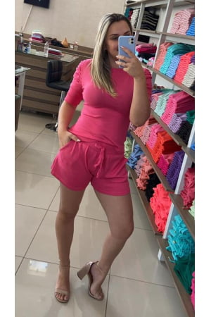 Ref 4220 - Conjunto Shorts e Blusa Modal(Últimas Peças)