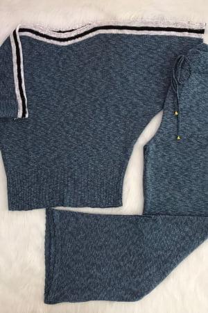 Ref 3259 - Conjunto Fio Flamê Pantalona Com Fenda